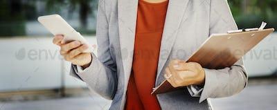 Businesswoman Leadership Occupation Job City Concept