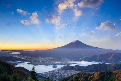 Mt. Fuji Autumn Sunrise