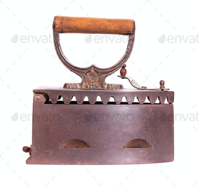 Old iron isolated side view