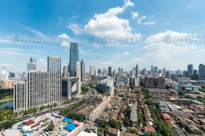 tianjin cityscape in daytime