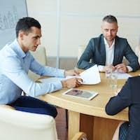 Training in meeting room