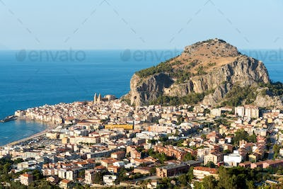 The village of Cefalu in Sicily