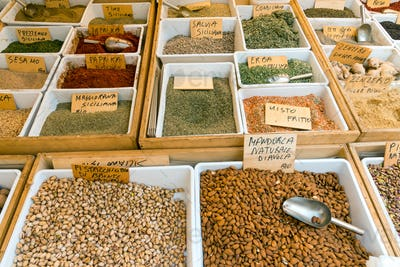 Seasoning, Pistachio and corn