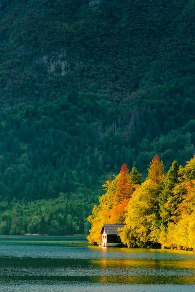 Beautiful small cottage house at Bohinj lake in Slovenia