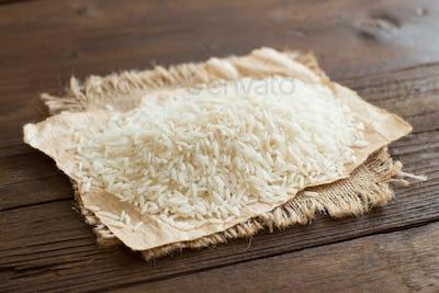 Pile of Basmati rice