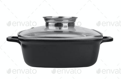 Casserole dish covered with lid