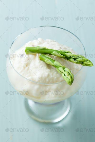 Green asparagus sorbet