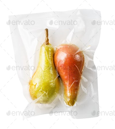 Vacuum sealed pears