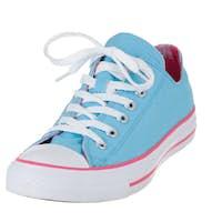 Vintage blue single shoe on white background