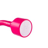 Pink watering nozzle isolated on white background