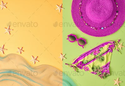 Fashion Summer clothes Bikini set. Minimal Concept