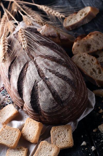 Various sliced bread
