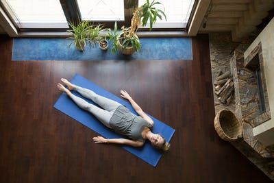 Yoga at home: relaxation