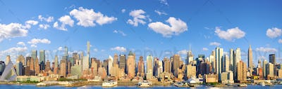 Manhattan Midtown skyline panorama
