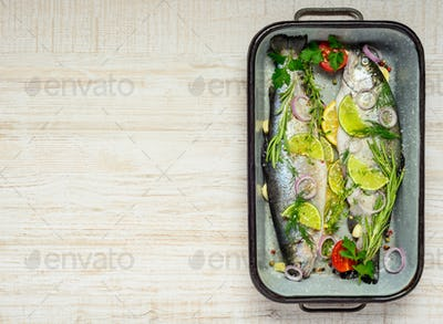 Trout Fish Prepared for Cooking