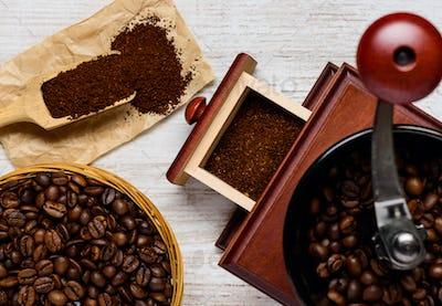 Coffee Preparation with Grinder
