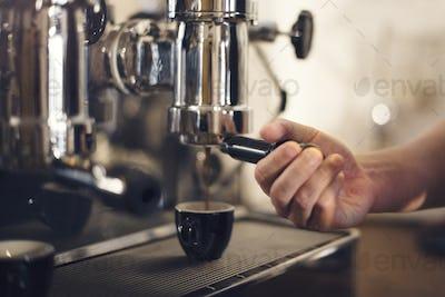 Coffee Machine Barista Grinder Steam Cafe Concept