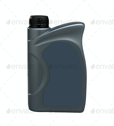bottle of engine oil (clipping path)