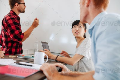 Business people meeting in conference room of a startup