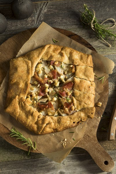 Savory Prosciutto Cheese and Pear Galette