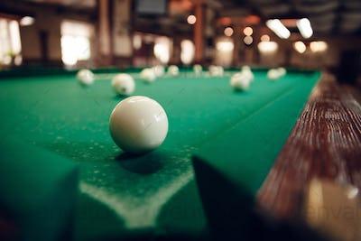 Billiard ball near pocket