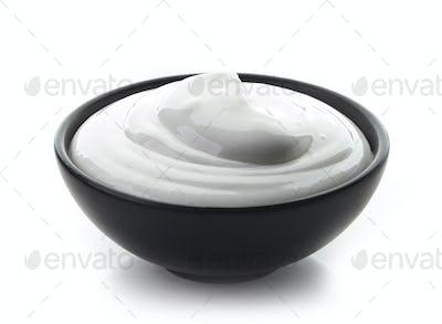 bowl of whipped egg whites