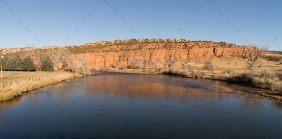 Bighorn River Rural Country Thermopolis Wyoming High Bluffs