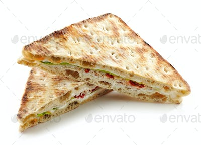 Sandwich with chicken and cream cheese