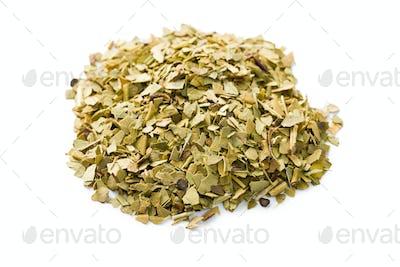 dried leaves of mate tea