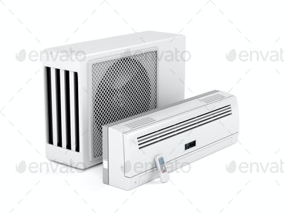 Modern split system air conditioner