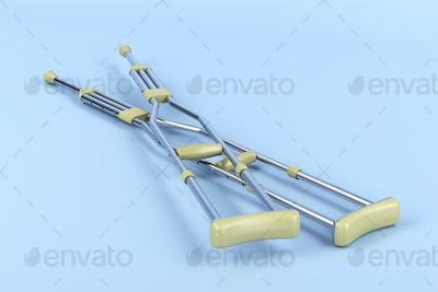 Pair of underarm crutches