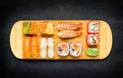 Japanese Delicacy Surimi and Sashimi