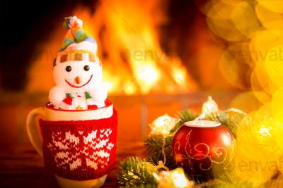 Christmas Xmas Fireplace Holiday Winter