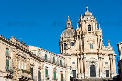 The cathedral in Ragusa Ibla, Sicily