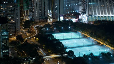 Night cityscape of Hong Kong