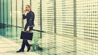 Businessman Worker Rush Hour Concept