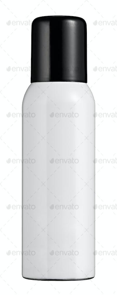 Single white lotion or makeup bottle