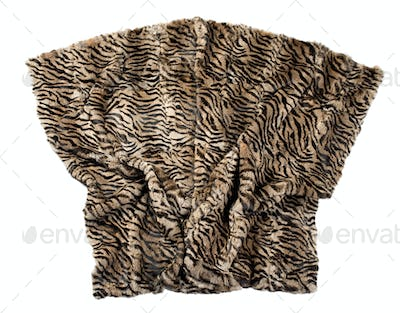 Leopard pattern blanket isolated on white