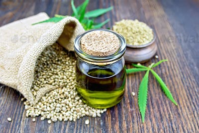 Oil hemp with flour on board