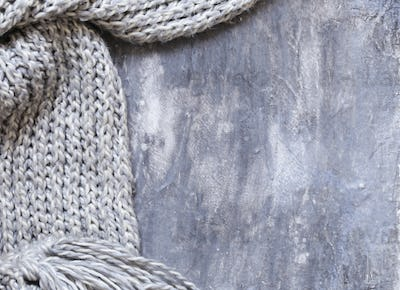 Gray Background with Scarf