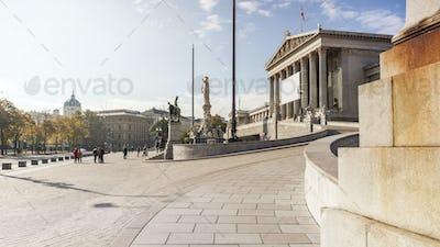 Parliament building in Vienna Austria