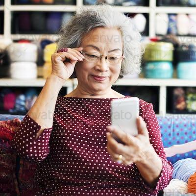 Knitting Handcraft Leisure Activity Recreational Pursuit Retirem