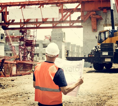 Blueprint Architect Career Structure Construction Concept