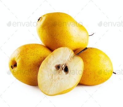Three pears and half