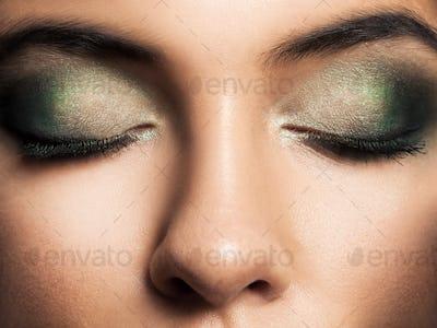 Eye Makeup. Beautiful Eyes Retro Style Make-up. Holiday Makeup