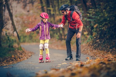 Roller Skate Family Learning