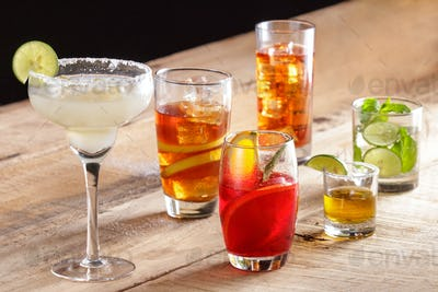 various types of beverages for refreshments