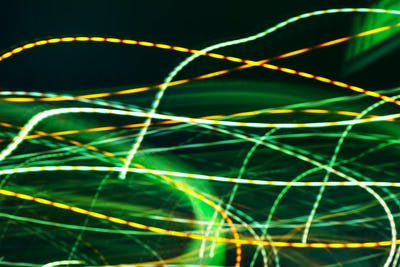 Abstract long exposure colorful street light as background