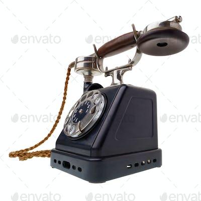 Antique black telephone