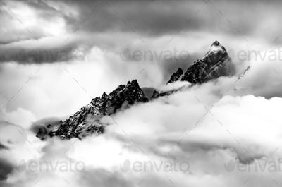 Mountains in the Clouds Grant Teton Peaks